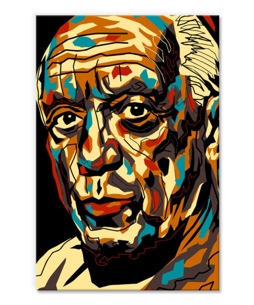 tableau deco albert einstein pop art