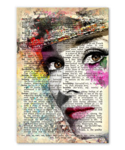 tableau audrey hepburn vintage pop art