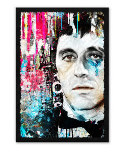 tableau collage pop art Al Pacino Scarface
