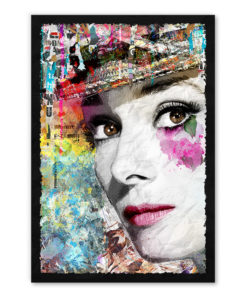 tableau collage pop art Audrey Hepburn