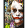 tableau collage pop art joker