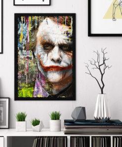 tableau collage pop art joker