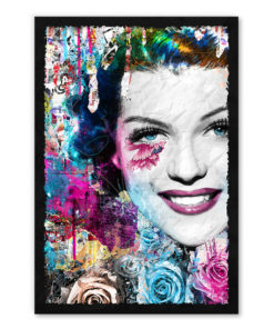 tableau collage pop art Rita Hayworth