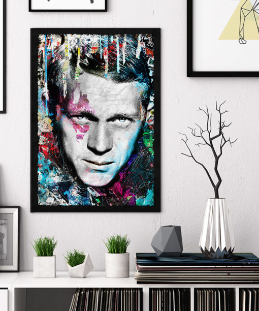 tableau collage pop art Steve McQueen