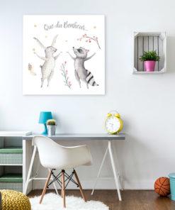 tableau chambre enfant animaux que du bonheur
