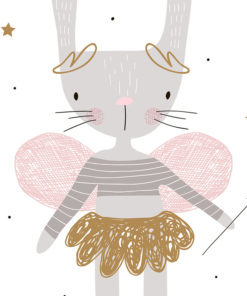tableau chambre petite fille fee lapine