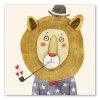 tableau chambre enfant lion