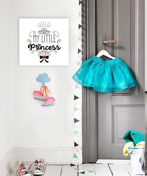 tableau deco chambre petite fille my little princess