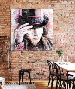 tableau deco mural charlie et le chocolaterie tim burton