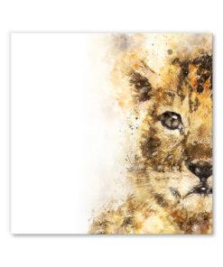 tableau deco bébé lion aquarelle peinture