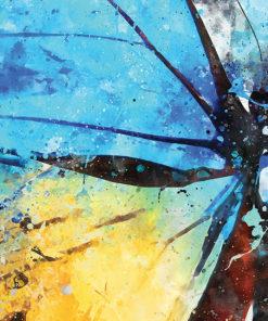 tableau deco papillon aquarelle