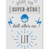 tableau chambre d'enfant citation super héros humoristique