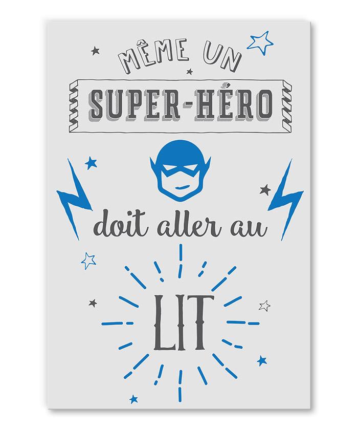 Tableau Deco Citation Humoristique Super Heros Tableau Deco