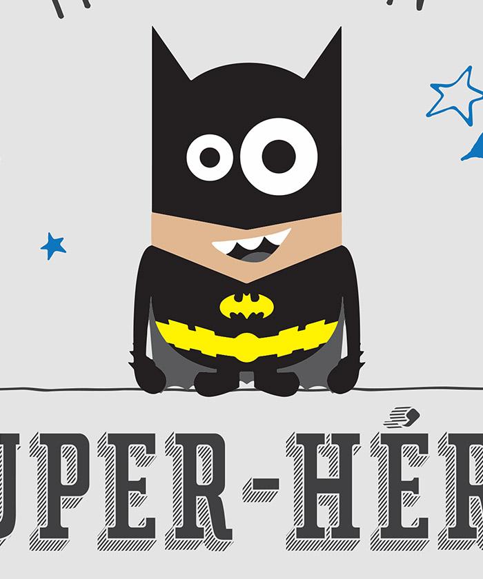 Tableau Déco Citation Humoristique Super Héros Batman