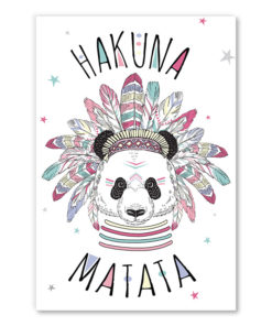 tableau deco chambre enfant panda hakuna matata scandinave