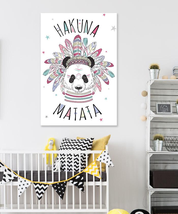 Tableau Deco Panda Hakuna Matata
