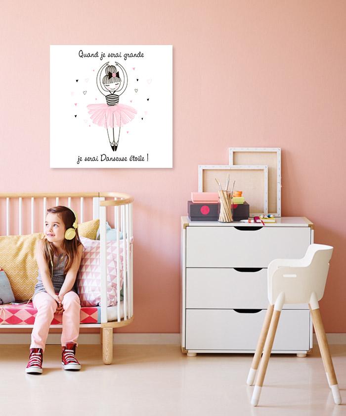 tableau je serai une danseuse toile tableau deco. Black Bedroom Furniture Sets. Home Design Ideas