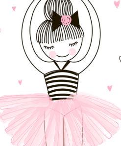 tableau danseuse étoile chambre petite fille