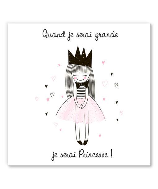 tableau chambre petite fille princesse