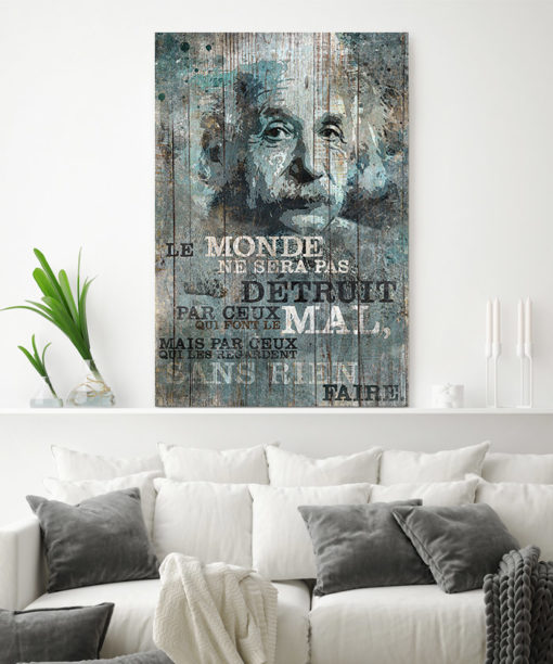 tableau deco citation Albert Einstein Le monde