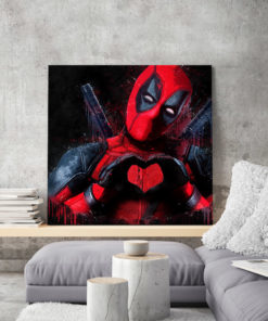 tableau deco deadpool pop art