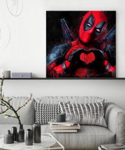 tableau deco deadpool pop art