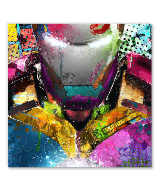 tableau iron man pop art marvel
