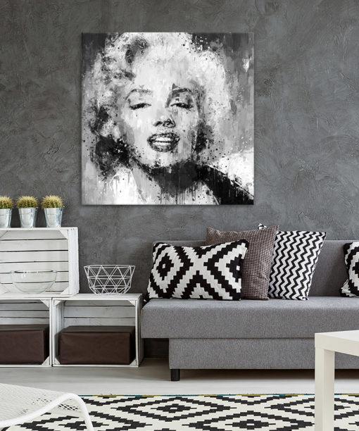 tableau deco Marilyn Monroe noir et blanc