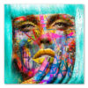 tableau portrait femme visage grafitti pop art
