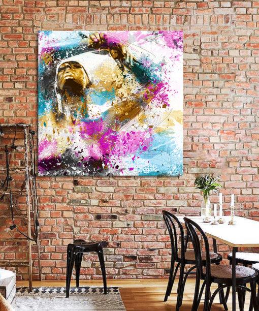 tableau mural décoratif danseuse pop art