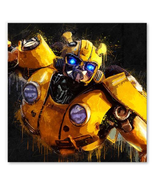tableau deco mural bumblebe transformers pop art