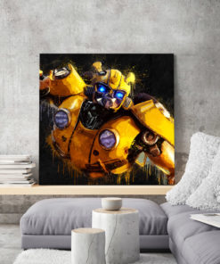 tableau deco mural bumblebe transformers pop art