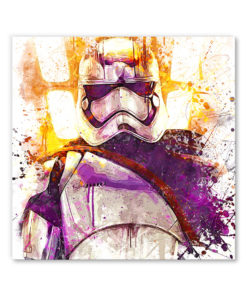 tableau deco mural star wars capitaine phasma stormtrooper