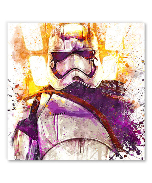 tableau deco mural star wars capitaine phasma stormtrooper