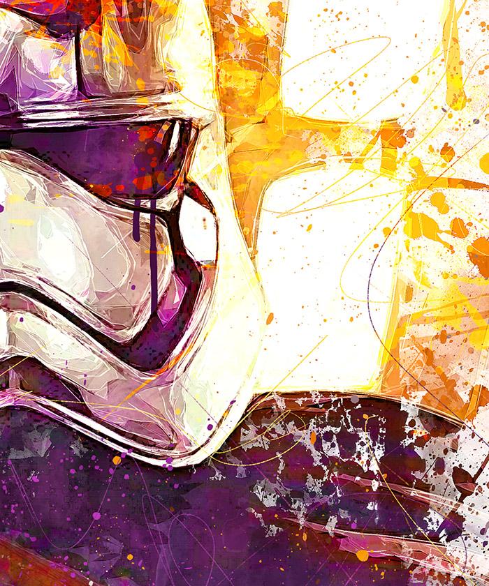 tableau capitaine phasma star wars stormtrooper pop art tableau deco. Black Bedroom Furniture Sets. Home Design Ideas