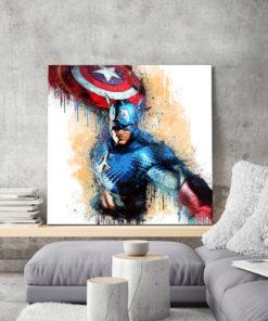 tableau deco mural captain america