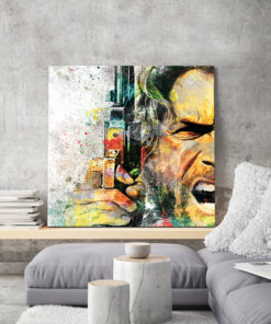 tableau mural Clint Eastwood Western Pop Art