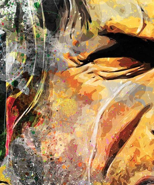 tableau mural Clint Eastwood Western Pop Art