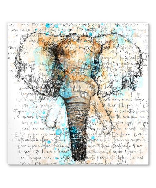 tableau deco elephant aquarelle