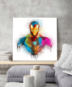 tableau deco iron man aquarelle