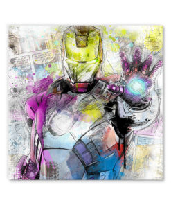 tableau iron man man marvel bande dessinee