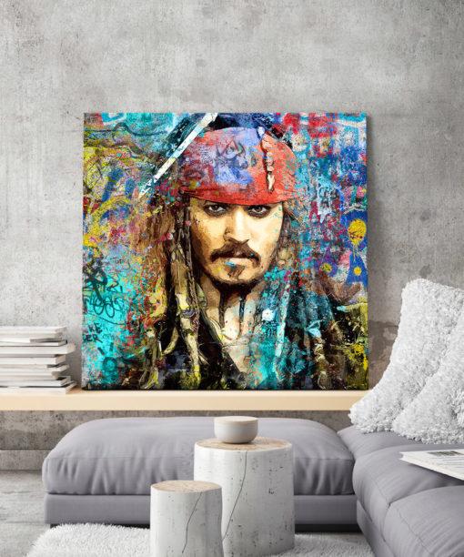tableau deco pirate jack sparrow