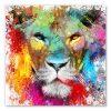 tableau deco lion pop art