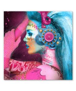 tableau pop art portrait femme punk