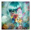 tableau deco street art portrait de femme