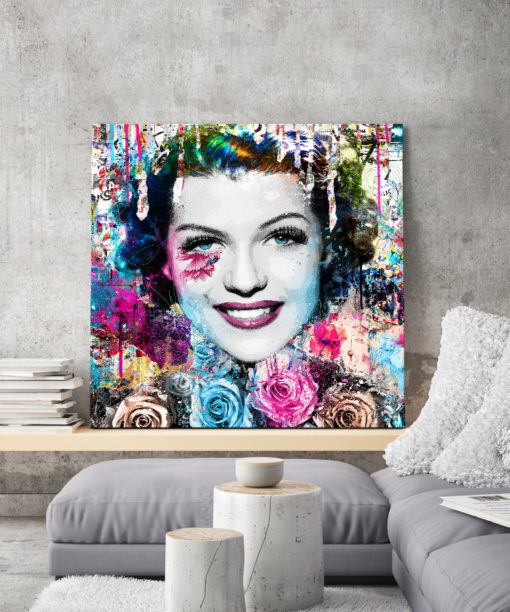 tableau deco pop art Rita Hayworth street art