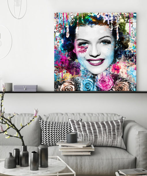 tableau deco pop art Rita Hayworth street art
