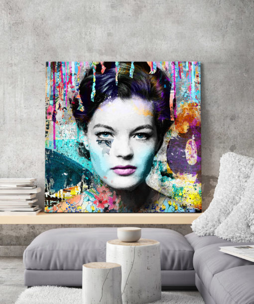 tableau deco pop art Romy Schneider street art