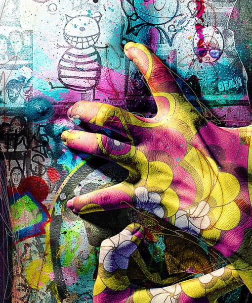 tableau deco street art torse homme pop art