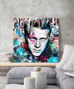 tableau pop art Steve McQueen street art